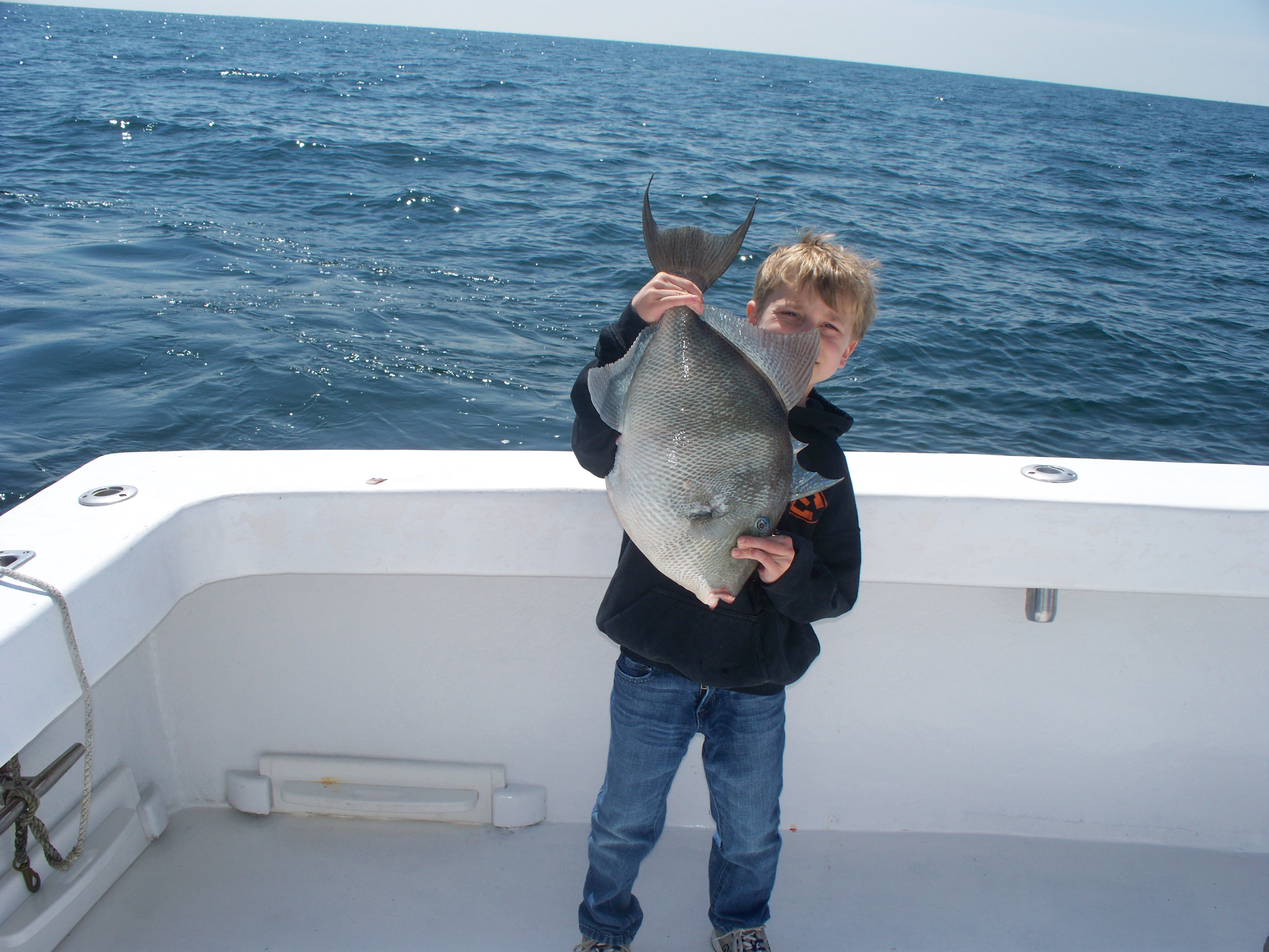 The triggerfish bite is great right now orange beach for Alabama deep sea fishing