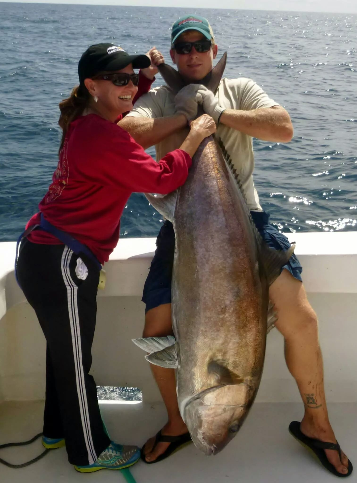 Monster amberjack caught off orange beach orange beach for Deep sea fishing orange beach
